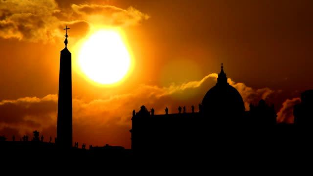 Italy Vatican City Piazza San Pietro sunset video