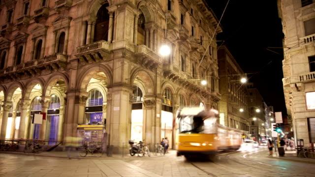 Italy City Street by night. treedeo speed way stock videos & royalty-free footage