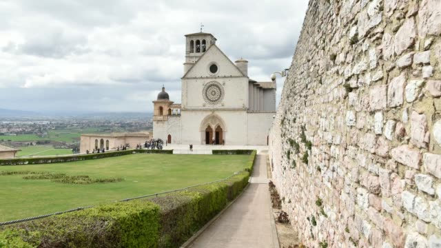 Italy,hyperlapse of the church Assisi