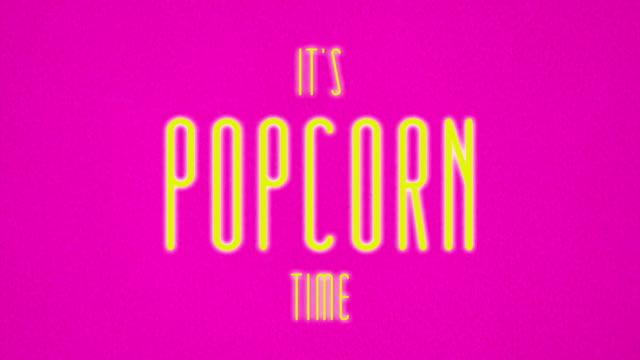 it's popcorn time - pop art video stock e b–roll