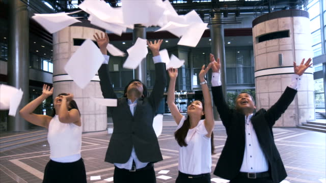 Its raining papers (slow motion) video
