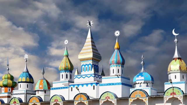 vídeos de stock e filmes b-roll de izmailovsky kremlin (kremlin in izmailovo), moscow, russia - cultura russa