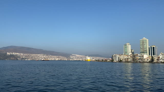 Izmir City View from Ferry Izmir City View from Ferry izmir stock videos & royalty-free footage