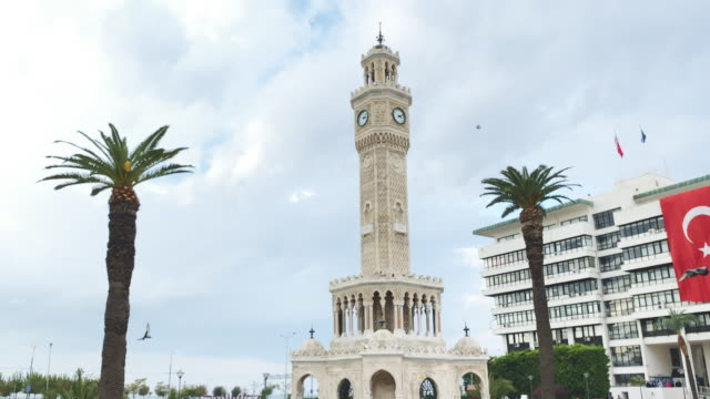 Izmir Clock Tower Izmir Clock Tower izmir stock videos & royalty-free footage
