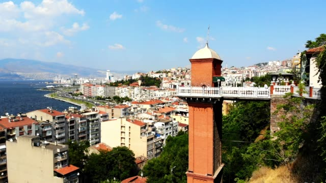 Izmir City view of Izmir by drone. aegean sea stock videos & royalty-free footage