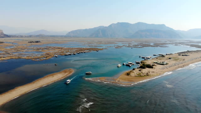 Iztuzu beach from Dalyan, Turkey. Daily boat trip.