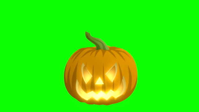 jack o lantern on green - pumpkin stock videos & royalty-free footage