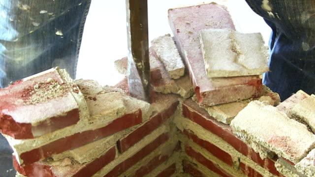 Jackhammer Brick Demolition video