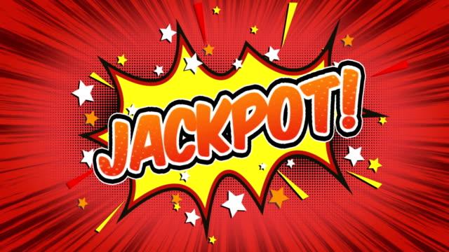 jackpot - komisk stil text - lotteri bildbanksvideor och videomaterial från bakom kulisserna