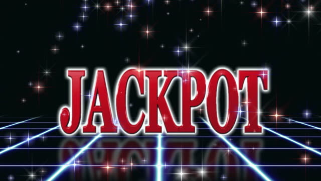 jackpot vincitore sfondo loop - parola video stock e b–roll