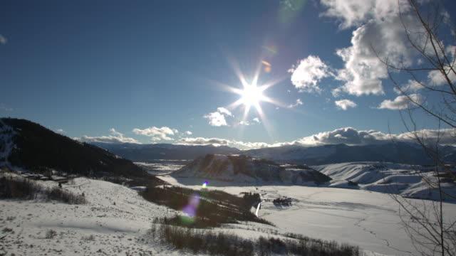 Jackson Hole, Winter Sunset, Time Lapse 1 video