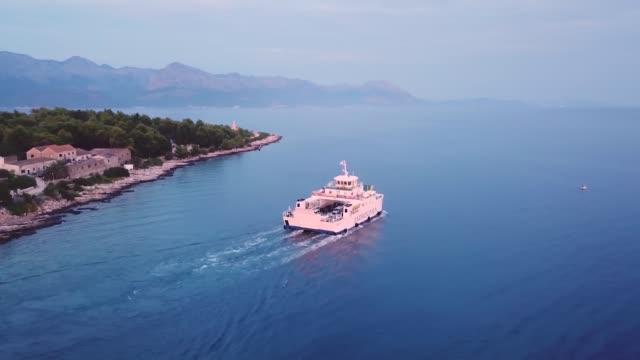 Jadrolinija ferry transporting cars from Hvar island to the mainland Croatia