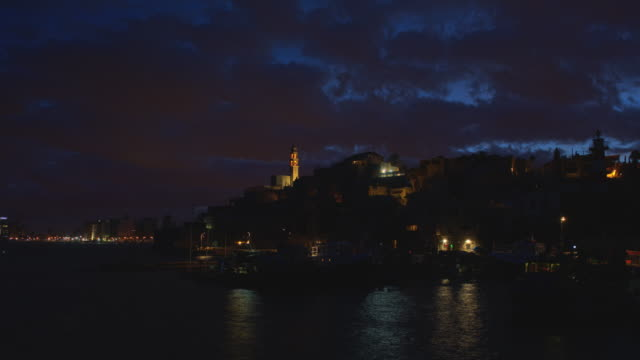 Jaffa Port Night to Day Time Lapse video