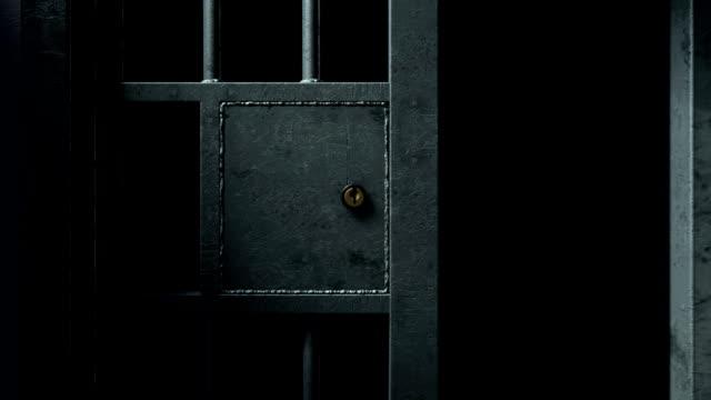 jail cel door close 3 - prigione video stock e b–roll