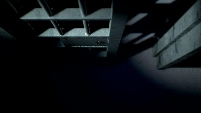 jail cel door close 5 - prigione video stock e b–roll