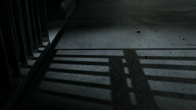 jail cell shadows animate view - prigione video stock e b–roll