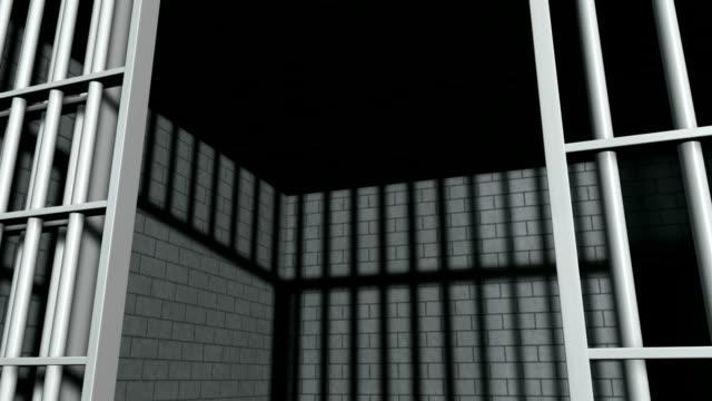 Jail Cell With Slamming Door Perspective video