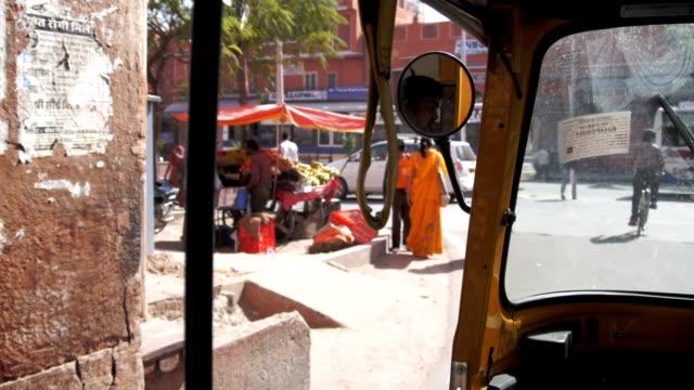 Jaipur India from a tuktuk video