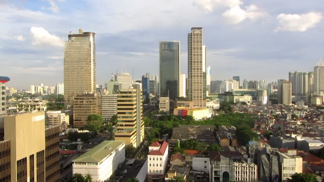 Jakarta business district view from Thamrin Tower video