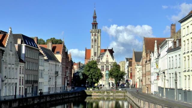 Jan van Eyckplein - Bruges, Belgium video