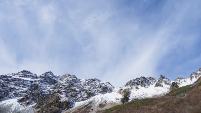日本アルプス山穂高(タイムラプス) ビデオ