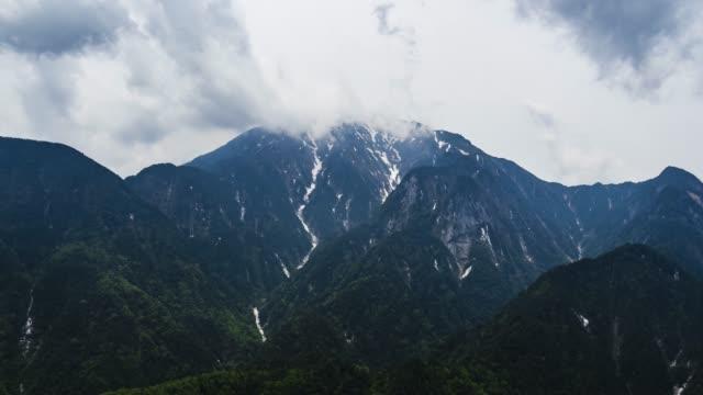 日本アルプス山海駒ヶ岳(タイムラプス) ビデオ