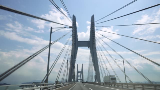 japan bridge - wagon kolejowy filmów i materiałów b-roll