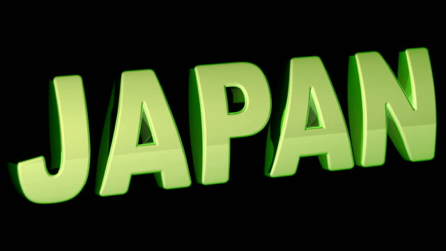 vídeos de stock e filmes b-roll de japan. footage with 4k resolution has alpha channel. - japanese font