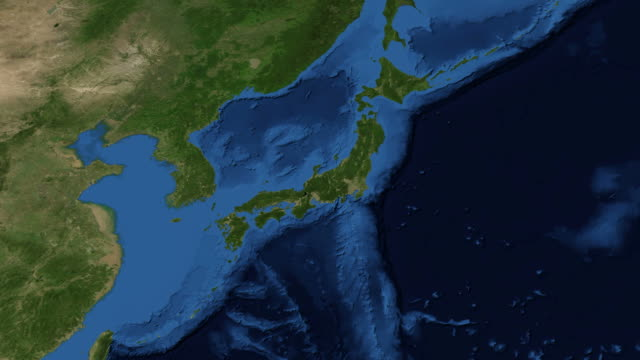 Japan from space video