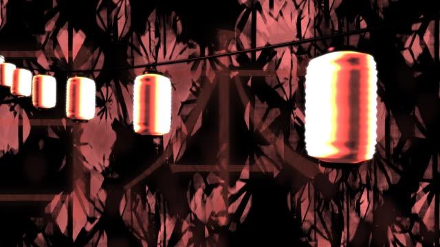 япония светильникам и культуры (петли - японский фонарь стоковые видео и кадры b-roll