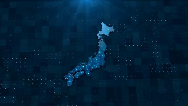 4k japan map links 4k with full background details - hiroshima filmów i materiałów b-roll