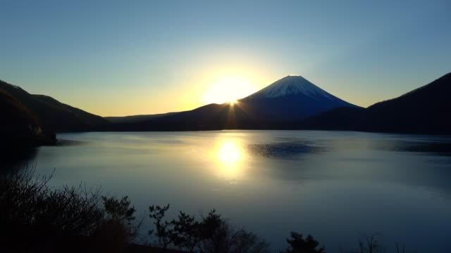 日本自然シーン - 朝日点の映像素材/bロール