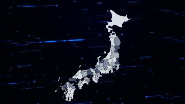 Japan network map video