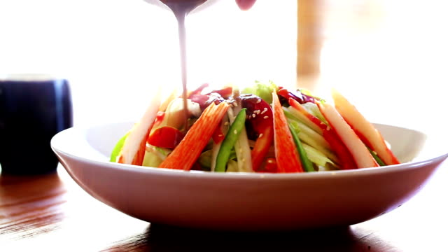 Japão salada de legumes - vídeo