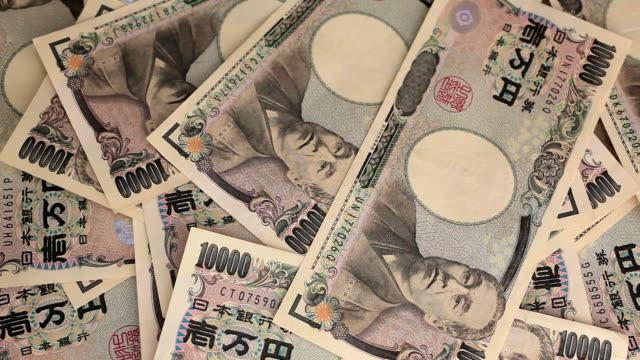 stockvideo's en b-roll-footage met japanese 10000 yen. - yenteken