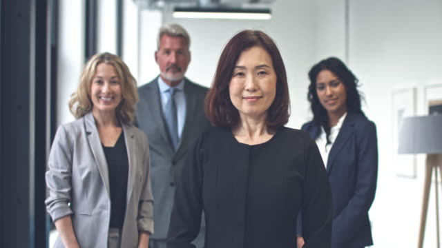 Japanese businesswoman proud of her achievements video