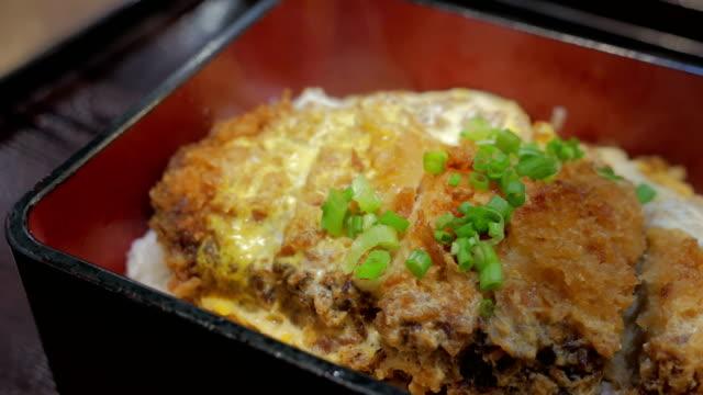 Japanese cuisine Katsudon. video