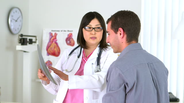 Japanese doctor prescribing medication to male patient video