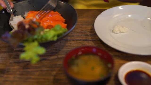 Japanese food Japanese food sashimi stock videos & royalty-free footage