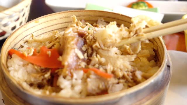 vídeos de stock, filmes e b-roll de comida japonesa - comida salgada