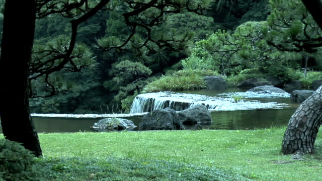 Japanese Garden 1 Japanese Garden in Tokyo Japan ornamental garden stock videos & royalty-free footage