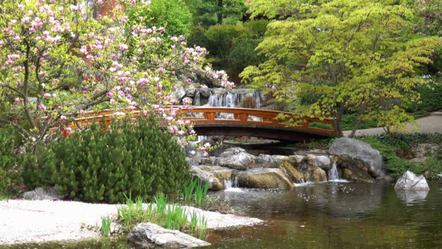 Japanese Garden With Super-Zoom-In-Effect