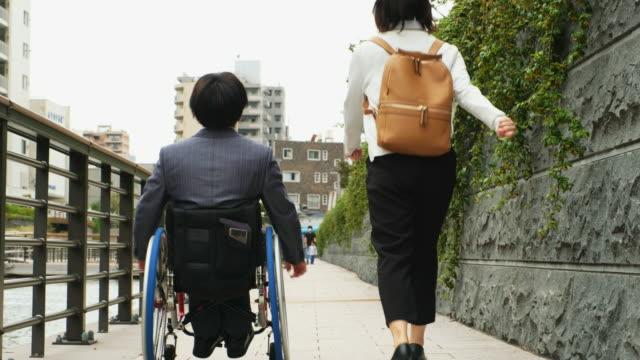 Japanese Man in a Wheelchair video