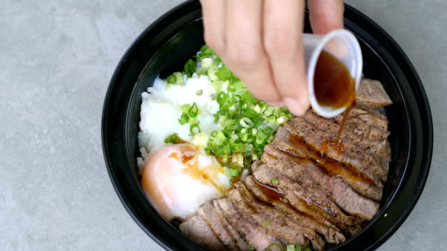 Japanese meal, Gyudon. video