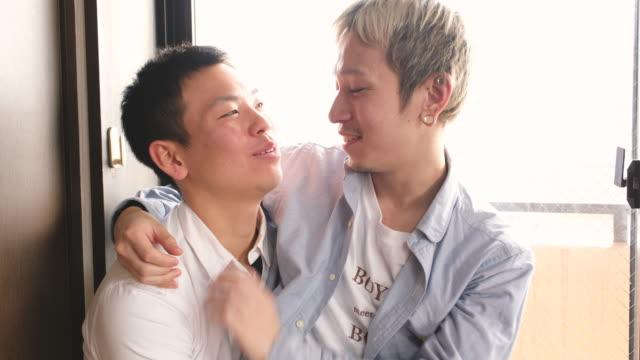 日本人ゲイカップル - 同性カップル点の映像素材/bロール