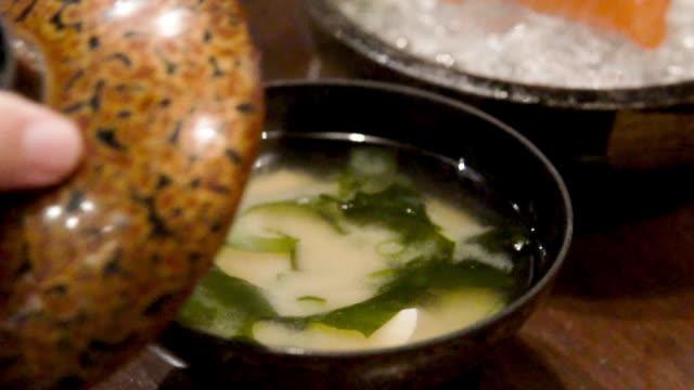 japansk misosoppa. - misosås bildbanksvideor och videomaterial från bakom kulisserna