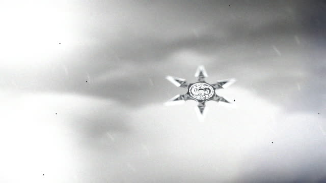 A Japanese Ninja Shuriken Flying in the Air A Japanese Ninja Shuriken Flying in the Air ninja stock videos & royalty-free footage