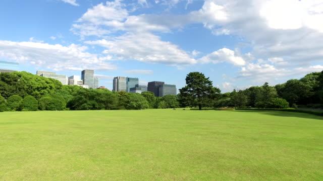 vídeos de stock e filmes b-roll de japanese park in tokyo - parque público