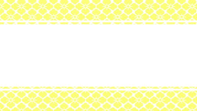 "japanese pattern animation ""hanabishi"" with title frame - kawaii video stock e b–roll"