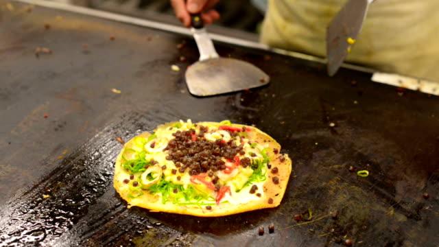 Japanese Pizza Okonomiyaki, Kyoto style video